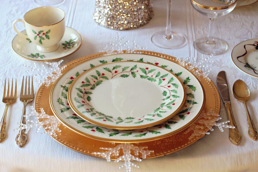 A dinner plate
