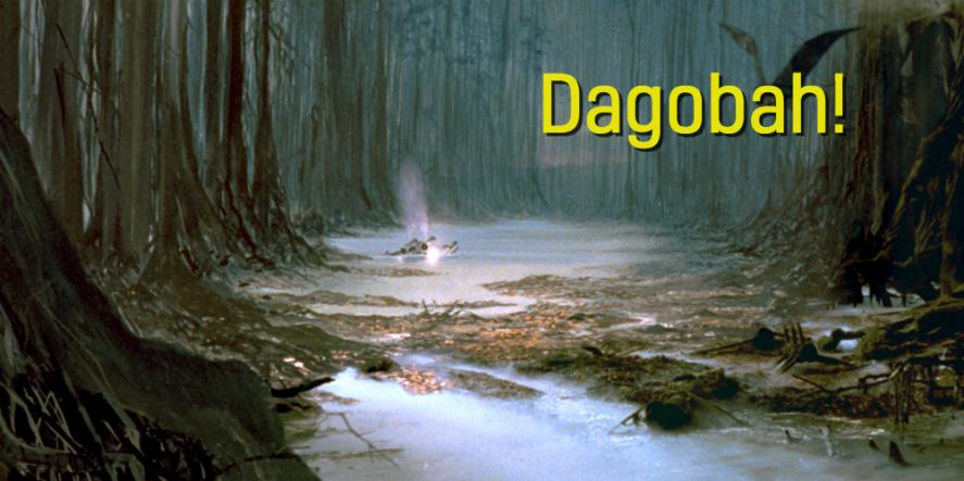 An image of the Star Wars planet Dagobah