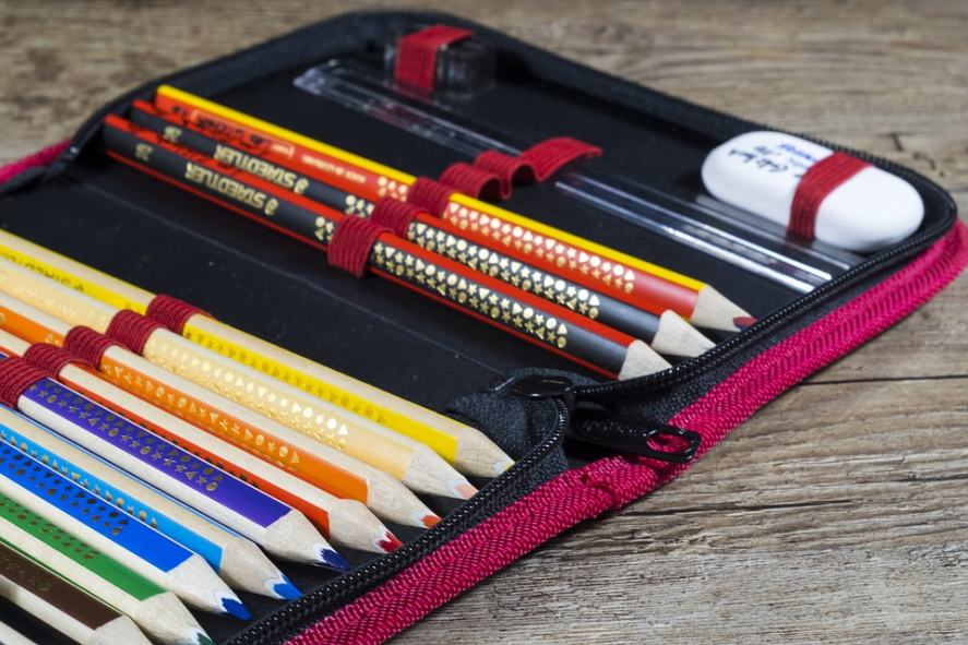 A well-stocked pencil case