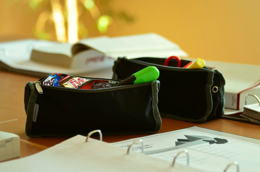 Sweets in a pencil case