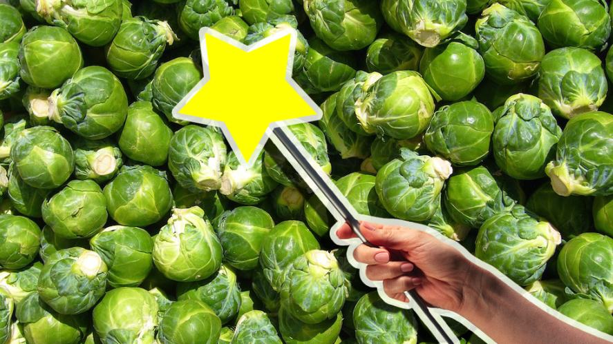 A magic wand and Brussels sprouts