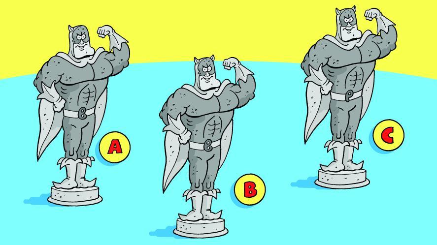 Bananaman Beano statues