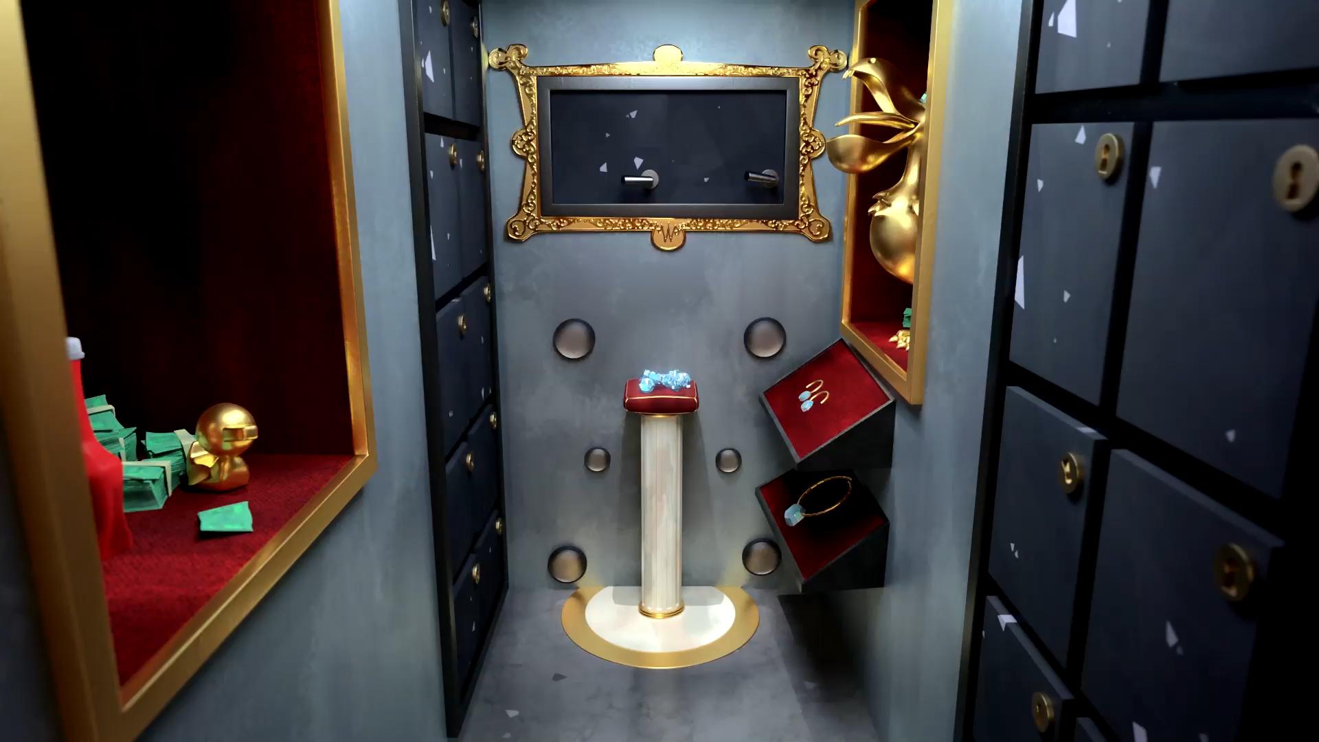 Inside Walter's vault