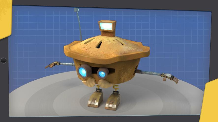 A cute pie robot