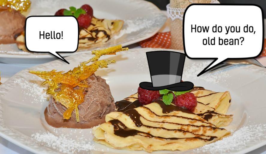 A fancy pancake