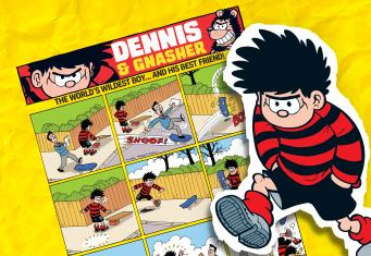 Dennis and Gnasher have a quiet day