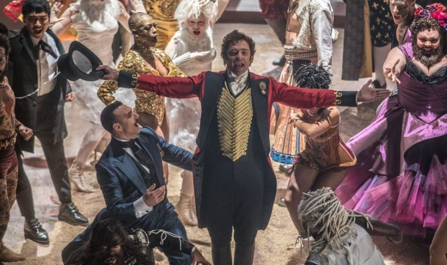 Hugh Jackman and the cast of The Greatest Showman