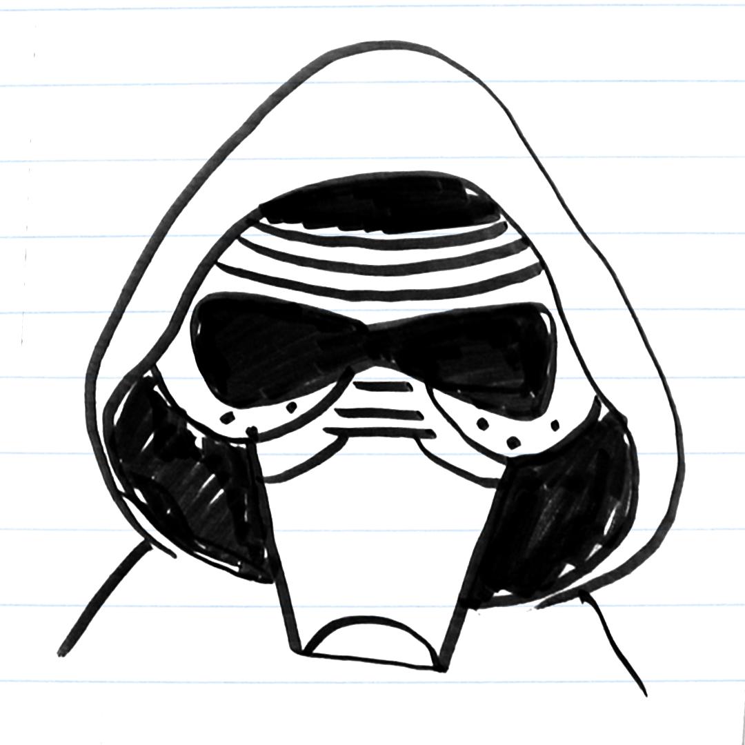 Drawing of Kylo Ren