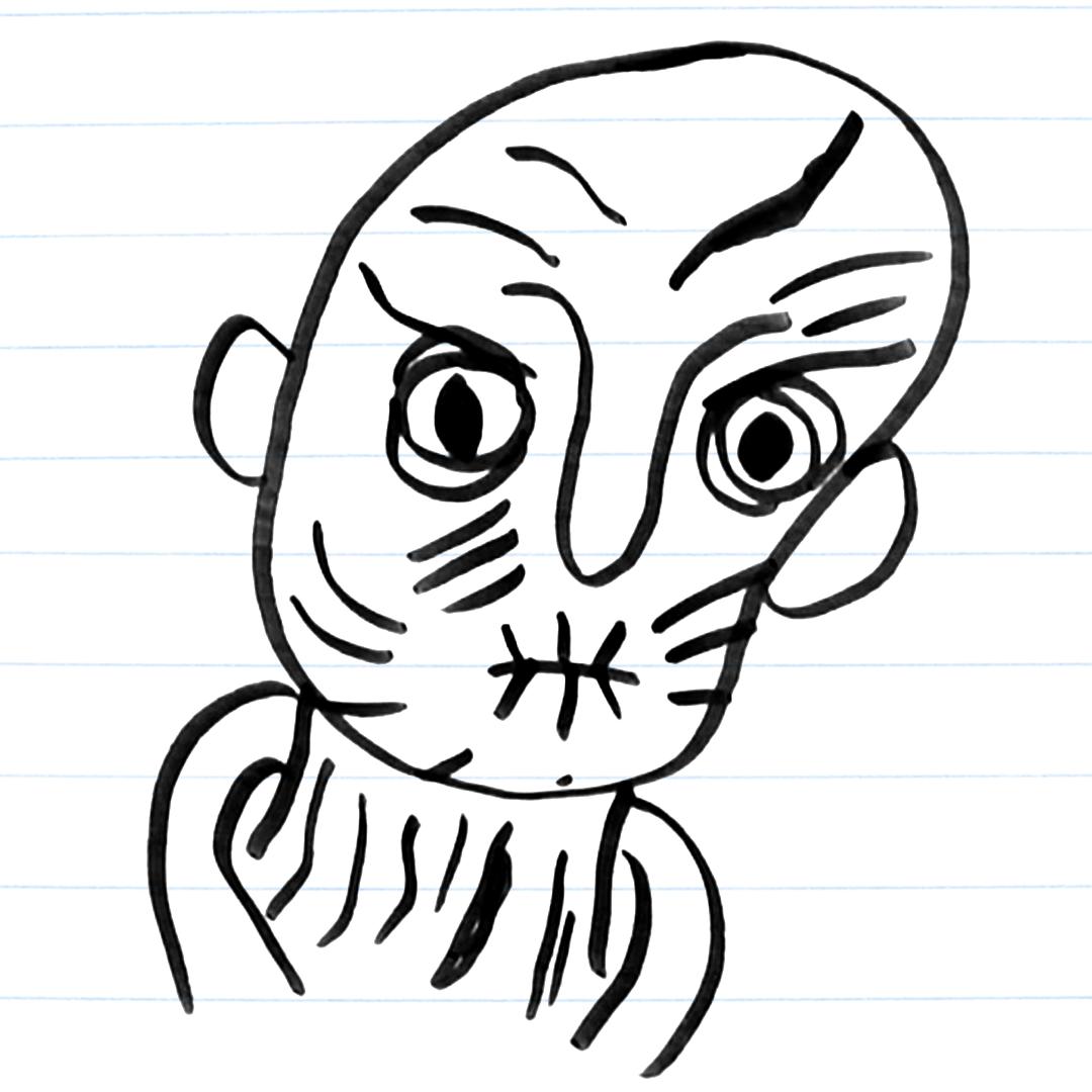 Drawing of Snoke