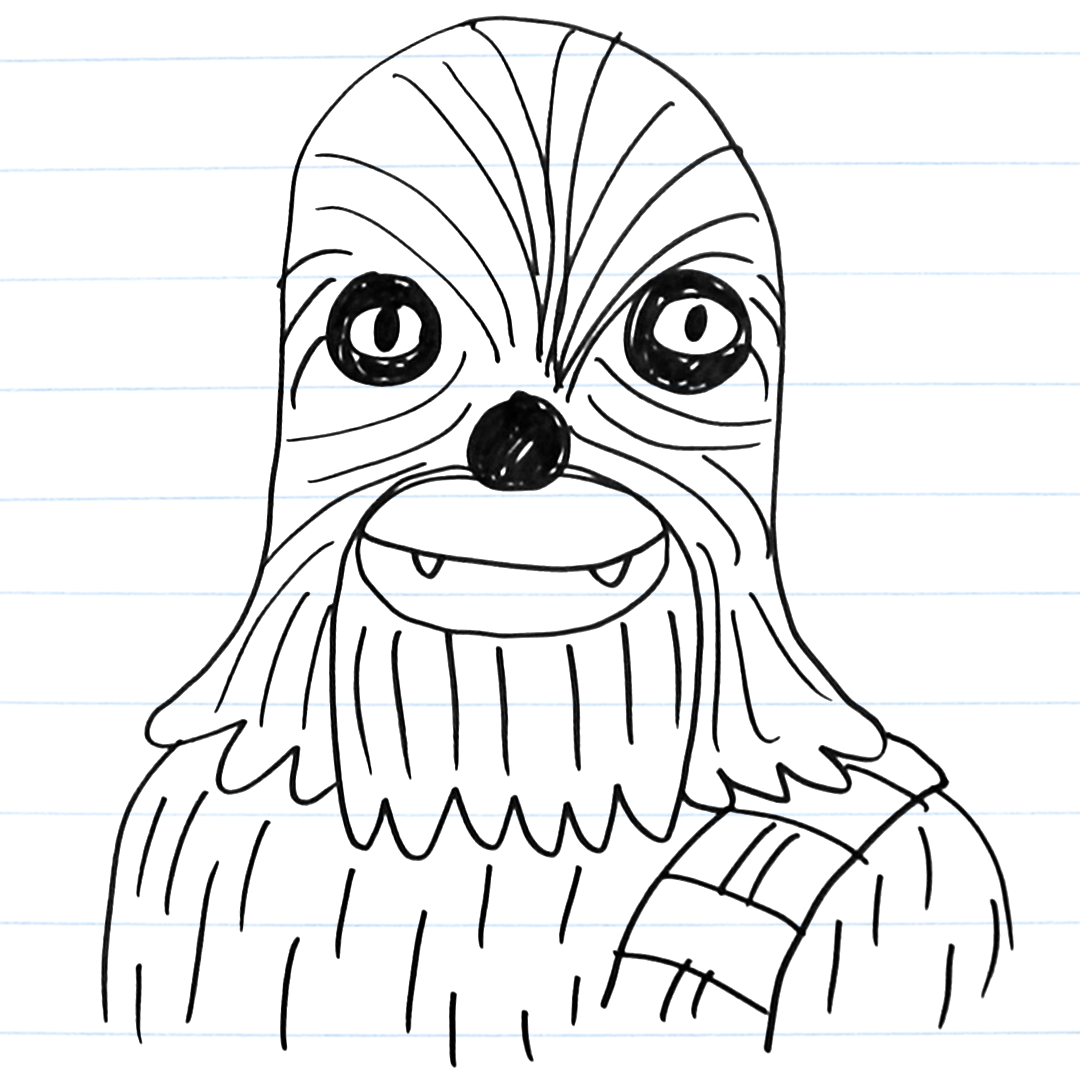 Drawing of Chewie