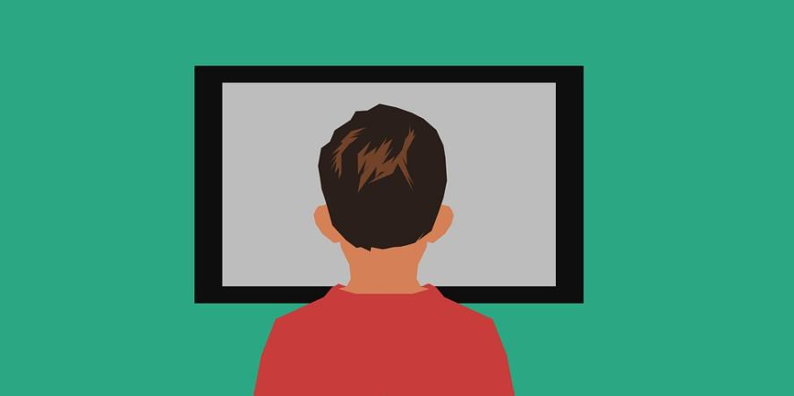 An illustration of someone watching television
