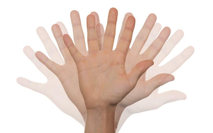 A hand waving hello