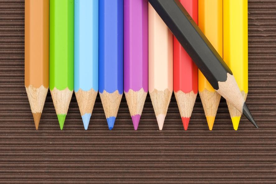 A selection of coloured pencils