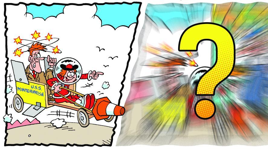 Minnie's Amazing Man-Made Rocket Kart