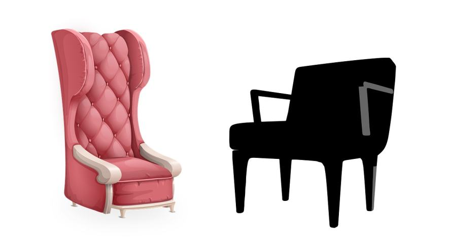 Two different styles of chairs