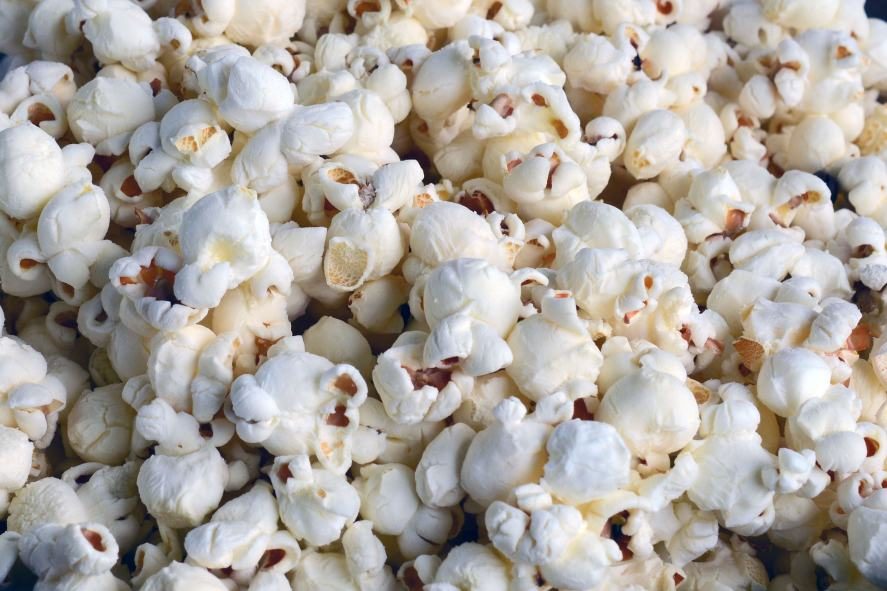 A picture of fresh popcorn