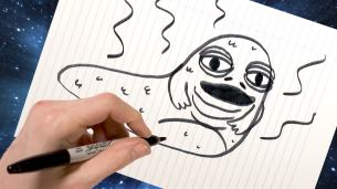 Jabba being drawing in outer space