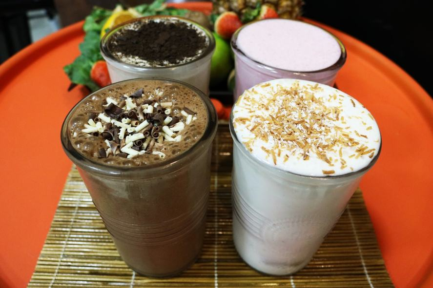 A selection of tasty milkshakes