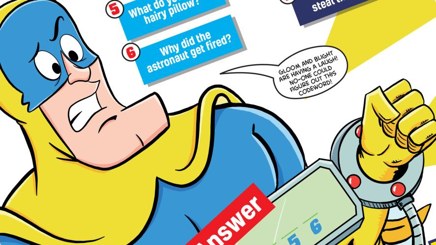 Help Bananaman! What do you call a hairy pillow?