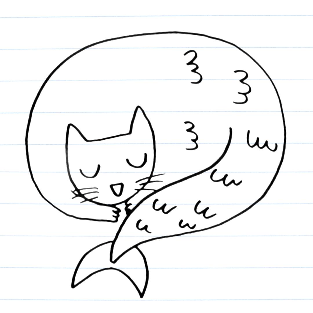 Purrmaid drawing