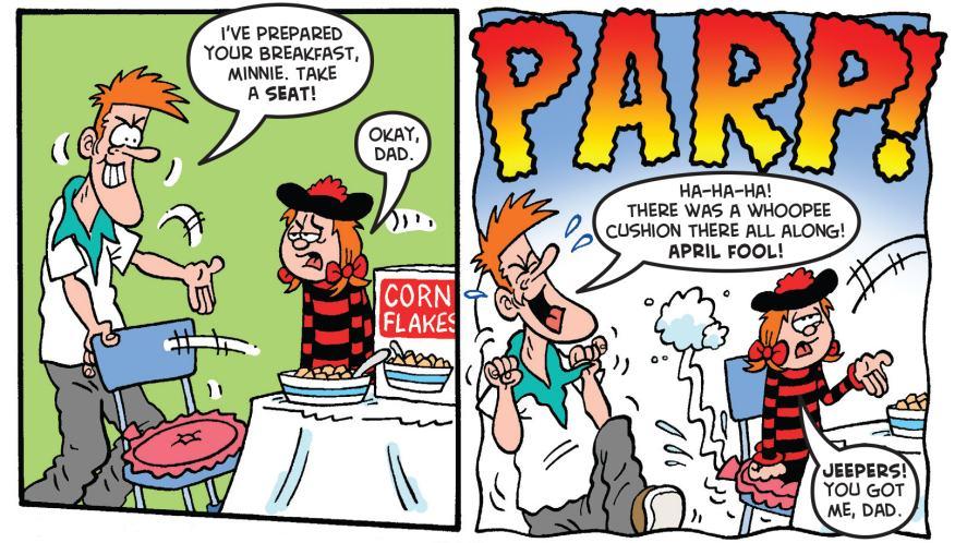 Minnie becomes the April fool!
