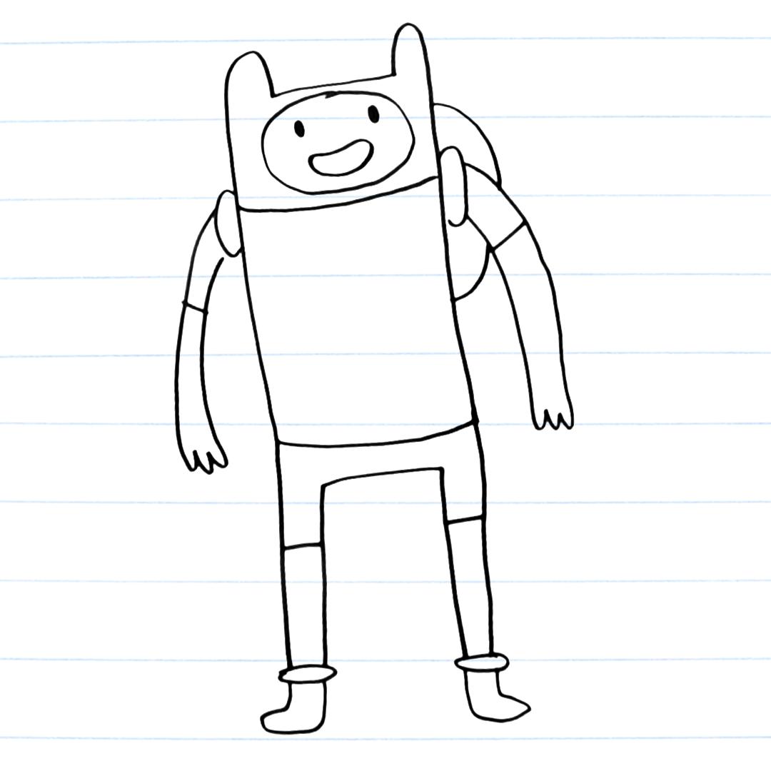 Drawing of Finn