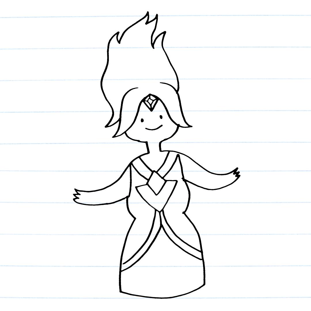 Drawing of Flame Princess
