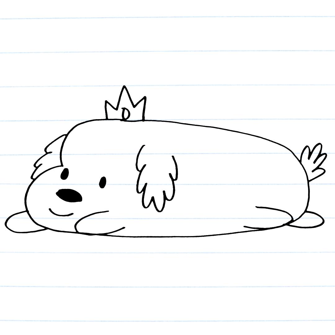 Drawing of Hot Dog Princess