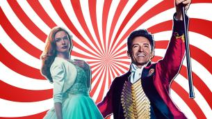 The Greatest Showman starring Hugh Jackman and Rebecca Ferguson