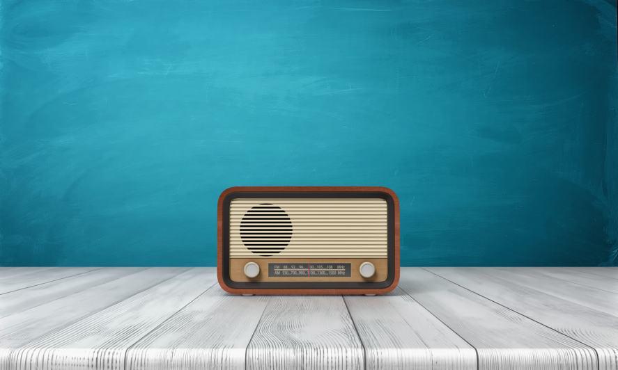 A cool old-fashioned radio