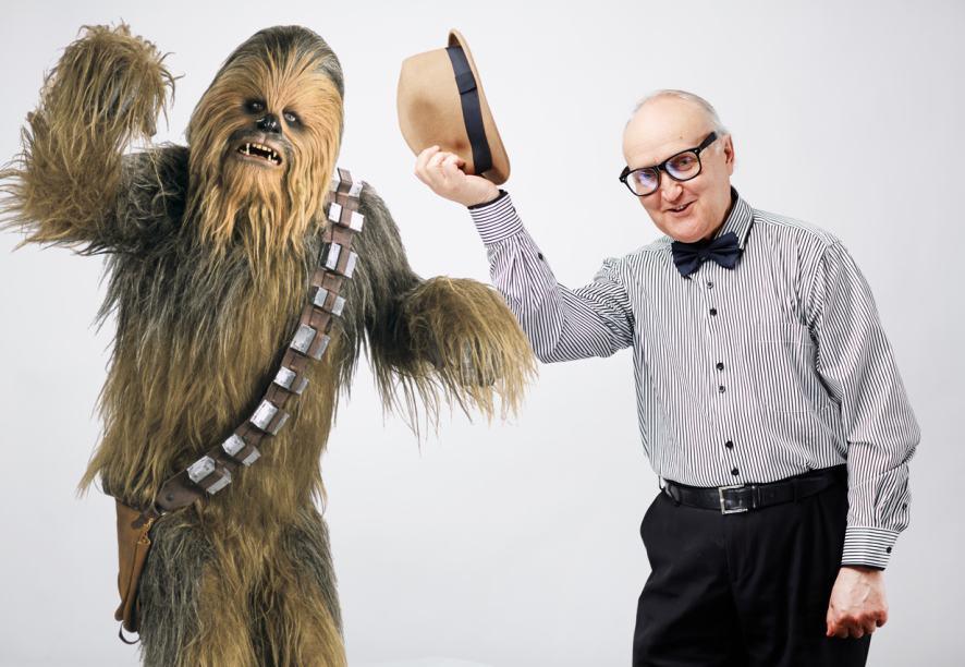 Chewbacca meets an elderly gentleman