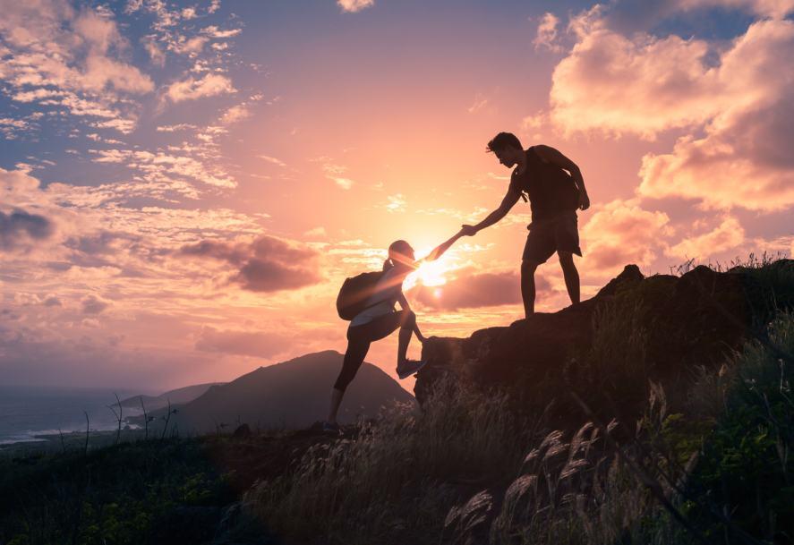A friend lends a helping hand