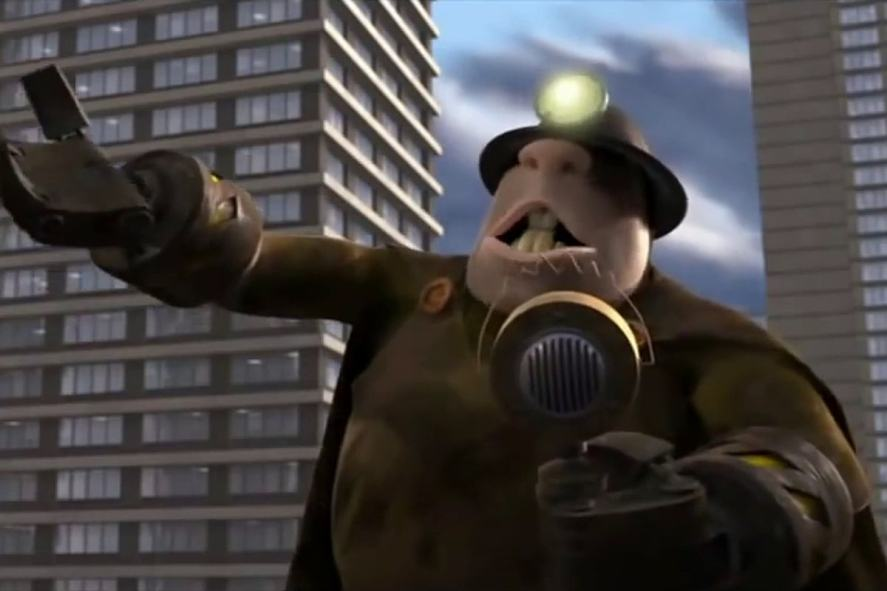 Underminer in the Incredibles