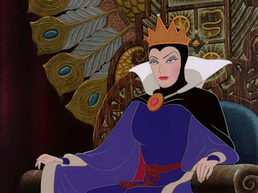The villain in the film Snow White