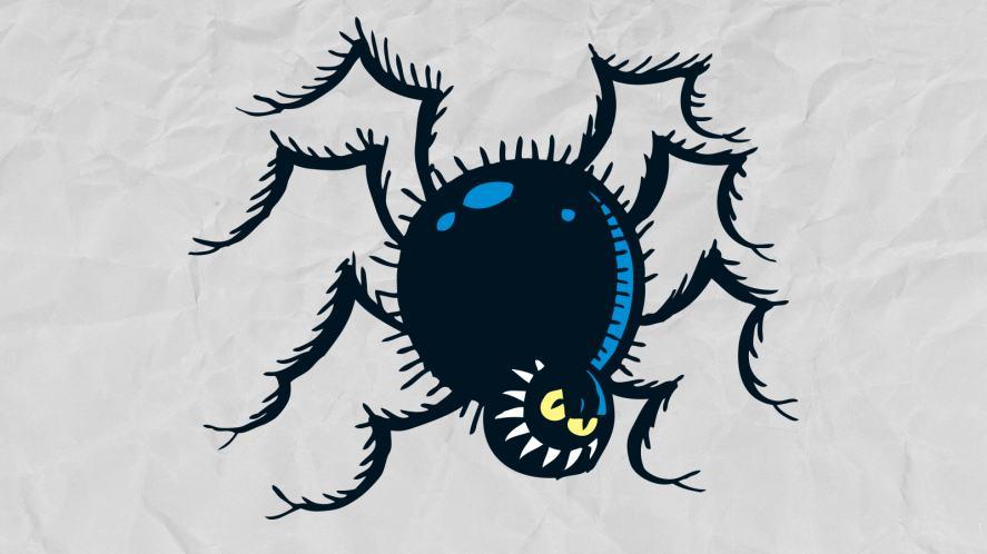 A spooky prank spider?
