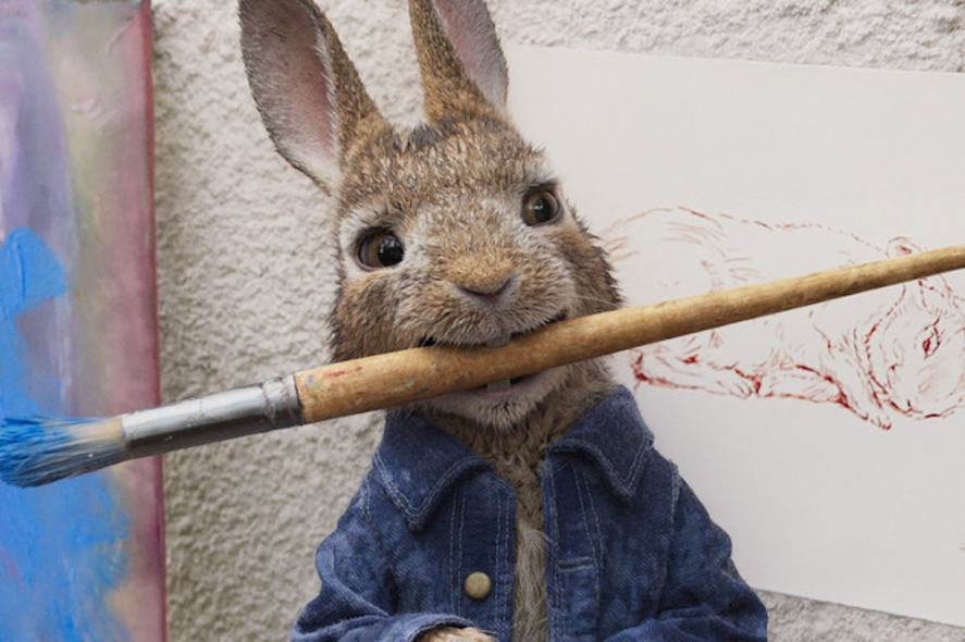 Peter Rabbit tries his hand at painting