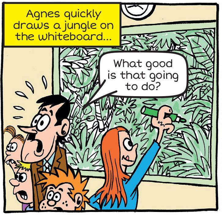 Arty Agnes draws jungle