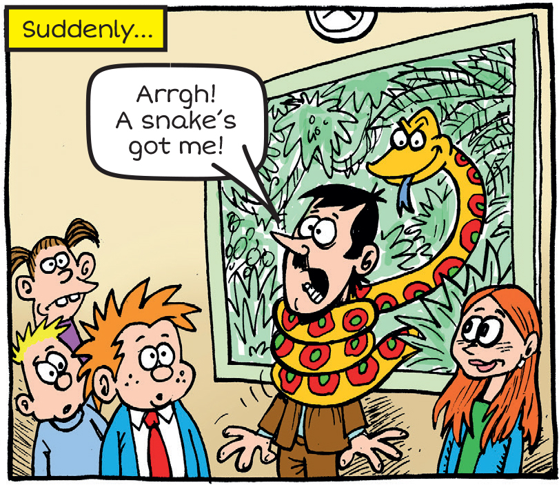 Snake traps Arty Agnes' teacher