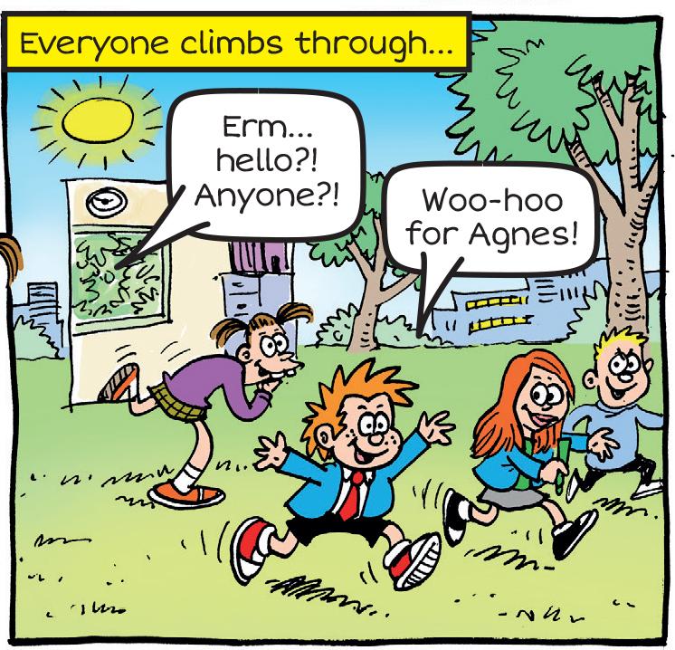 Arty Agnes escapes school