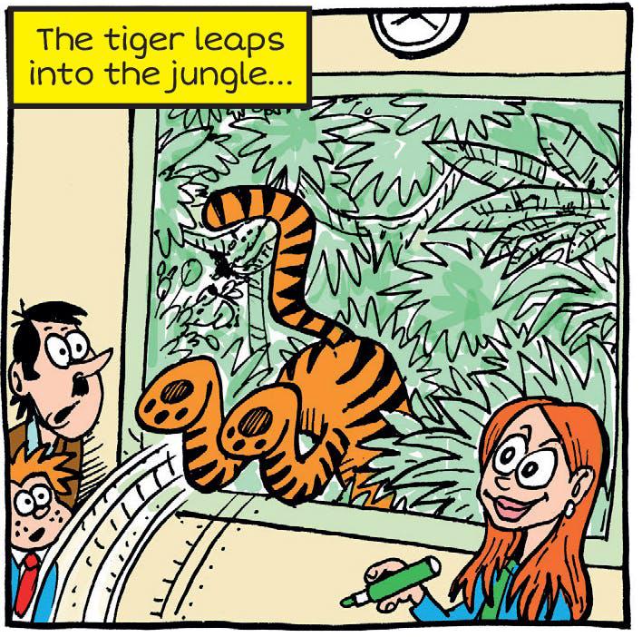 Tiger jumps into Arty Agnes' jungle