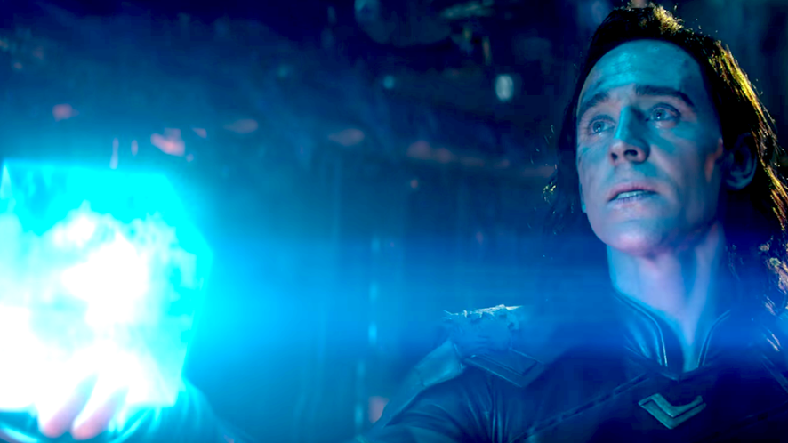 Loki and his glowing blue cube | Avengers Trivia