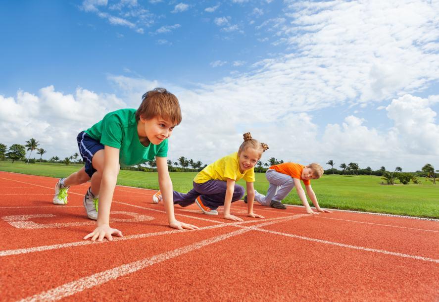 Kids take part in athletics