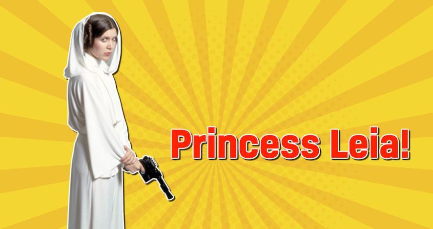 Star Wars character Princess Leia