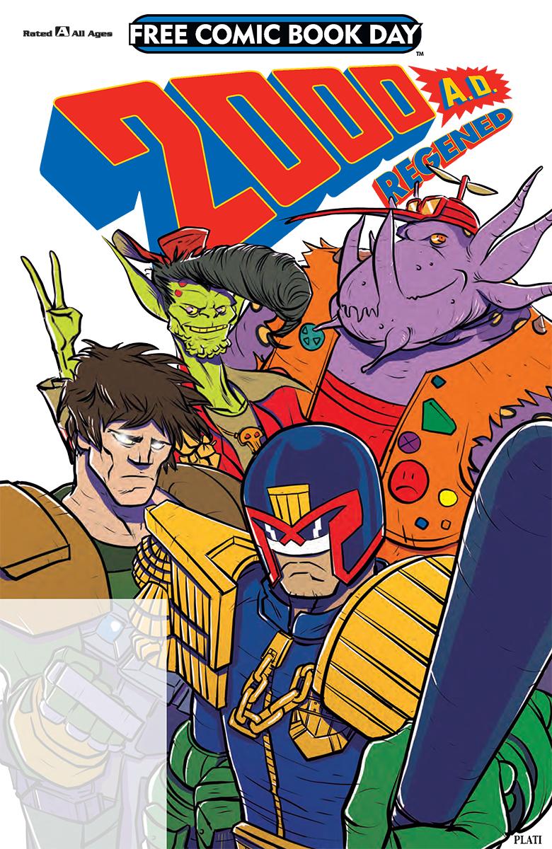 2000AD Regened comic cover