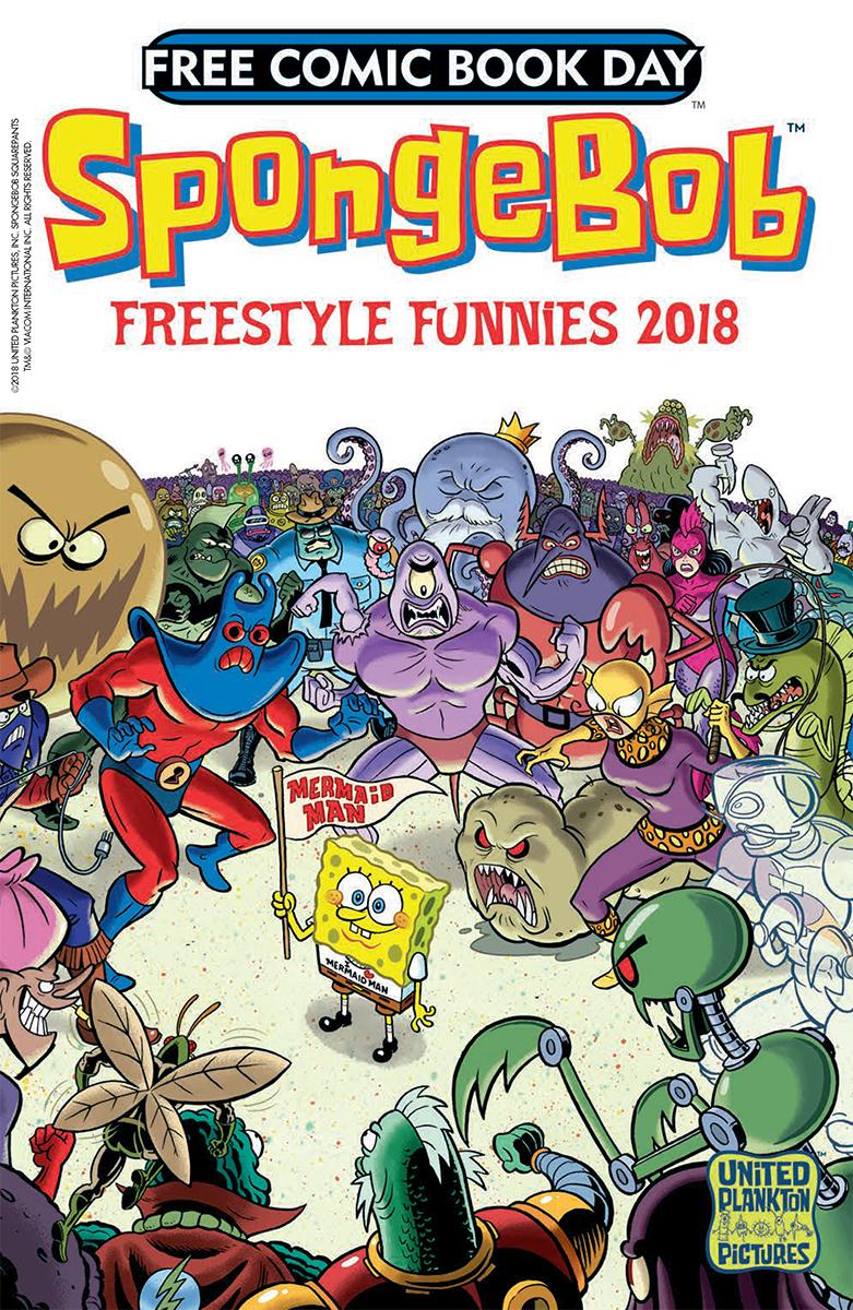 Spongebob squarepants comic cover