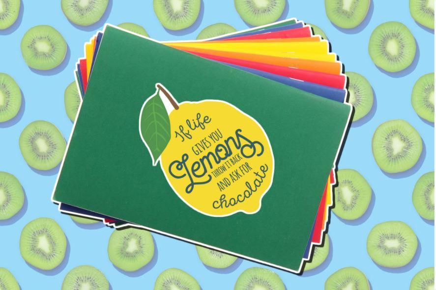 Life gives you lemons catchphrase sticker