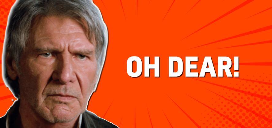 Han Solo looks very grumpy