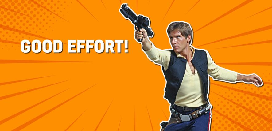 Han Solo in Star Wars IV: A New Hope
