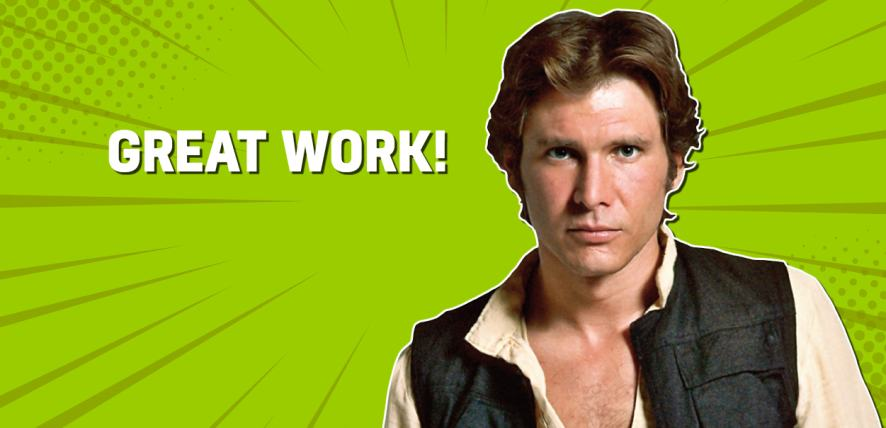 Star Wars' star Han Solo, played by Harrison Ford
