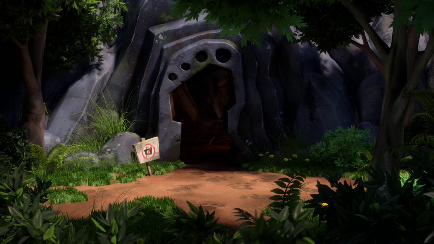 The Yeti Cave in Beanotown forest